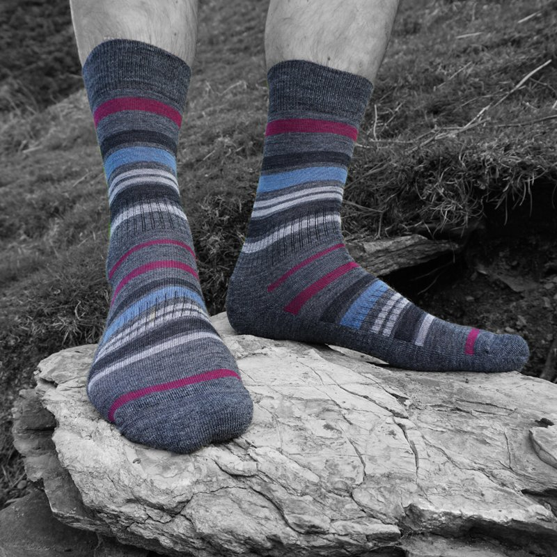 PITTCH Mens multistripe sock