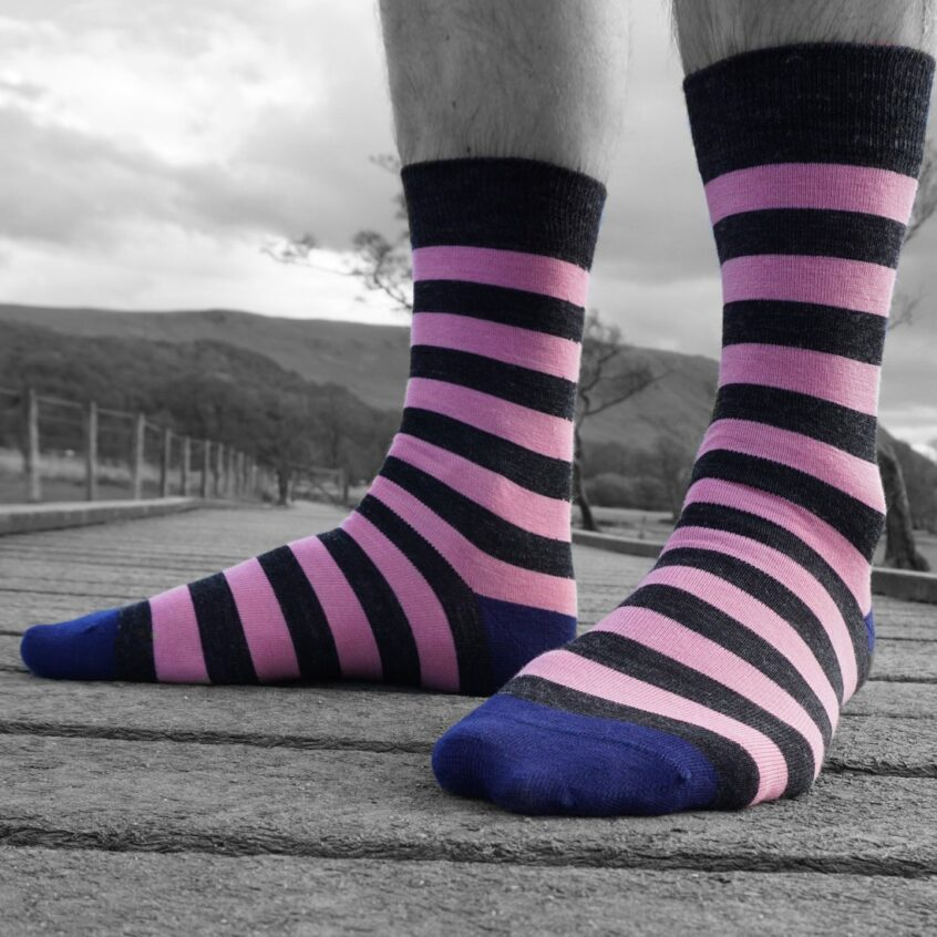mens stripe sock